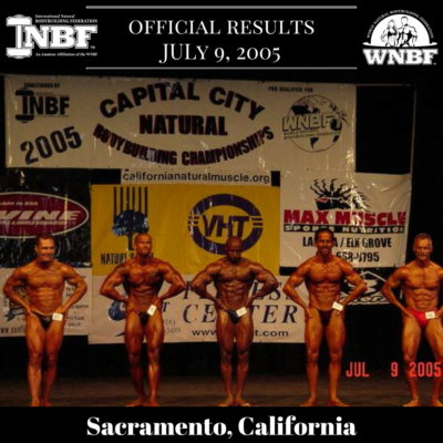 Results 2005 INBF Capital City Natural WNBF Pro Qualifier Sacramento California Dwayne Crite Paul Alberts James Gilchrest