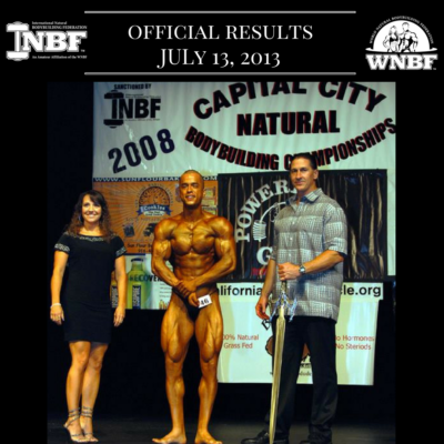 Results 2008 INBF Capital City Natural Championships WNBF Pro Qualifier Alberto Nunez WNBF Pro Card Sacramento