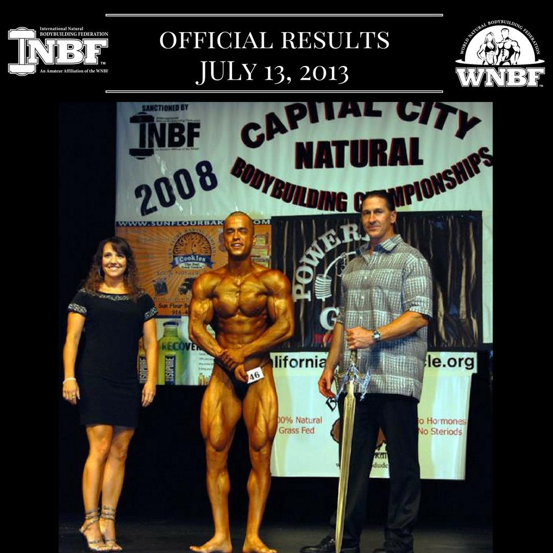 Results 2008 INBF Capital City Natural Championships WNBF Pro Qualifier Alberto Nunez WNBF Pro Card Sacramento
