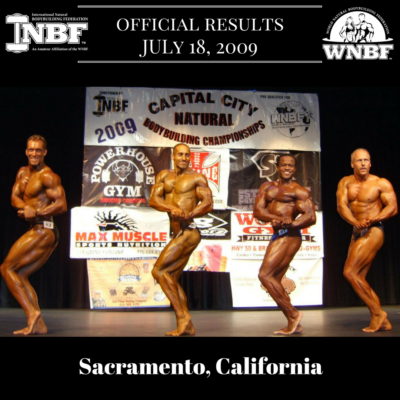 Results 2009 INBF Capital City Natural WNBF Pro Qualifier Sacramento California Eric Helms Jeff Alberts Moji Oluwa Brian Bousman