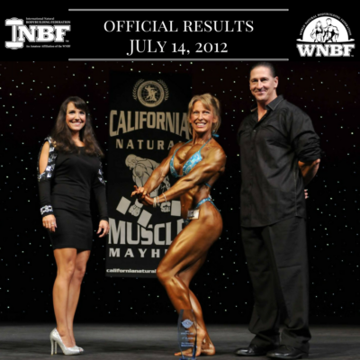 Results 2012 Pro USA and California Natural Muscle Mayhem Pro Qualifier Sacramento California