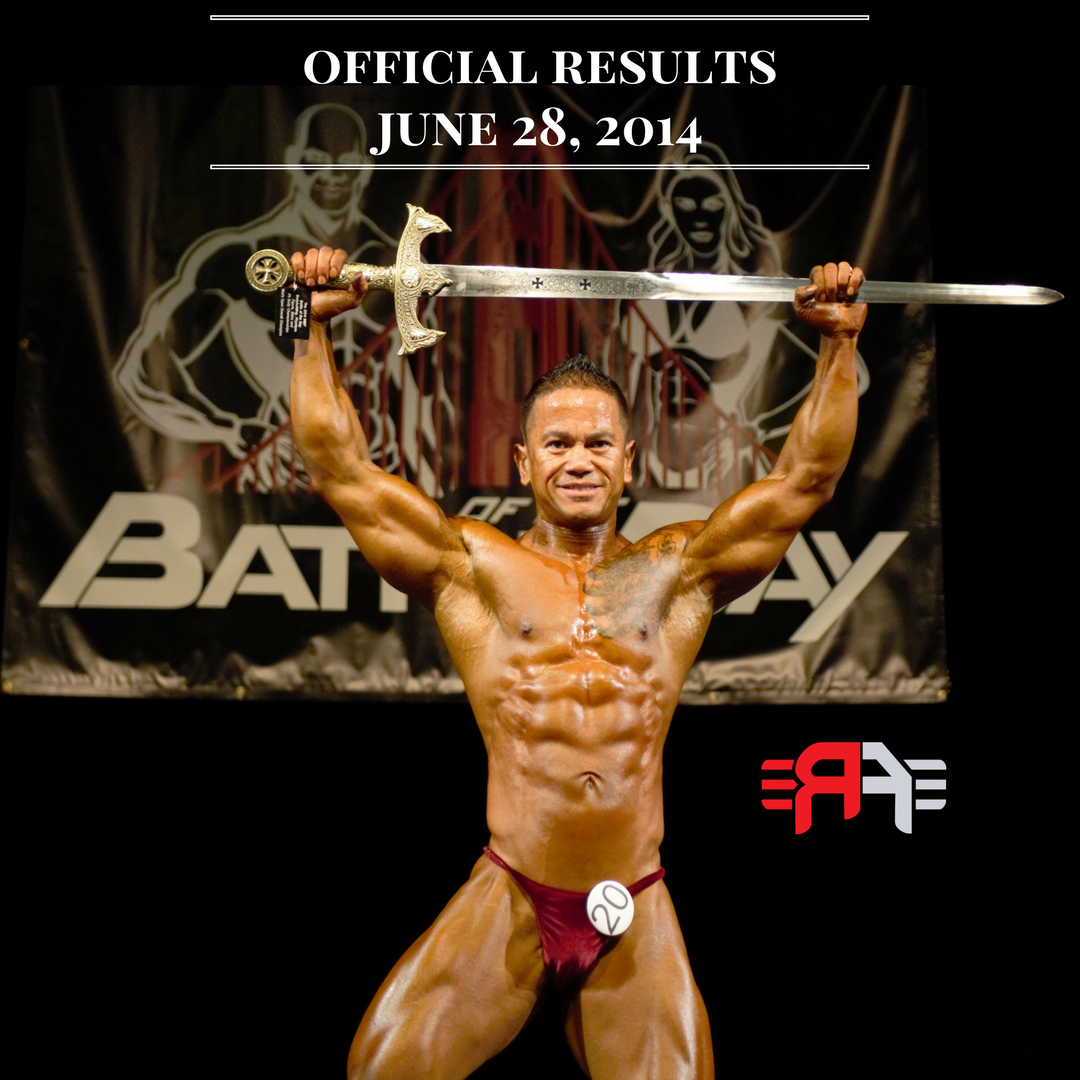 Results 2014 Battle of the Bay Edgar Tracy Overall Men's Natural Bodybuilding Champion San Ramon California