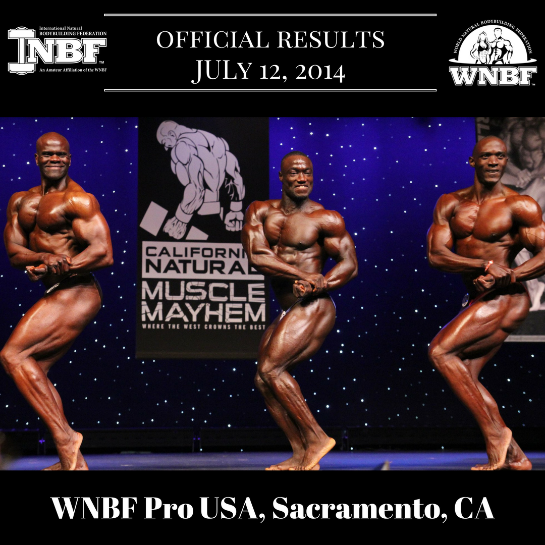Results 2014 Cellucor WNBF Pro USA and INBF California Natural Muscle Mayhem WNBF Pro Qualifier Sacramento