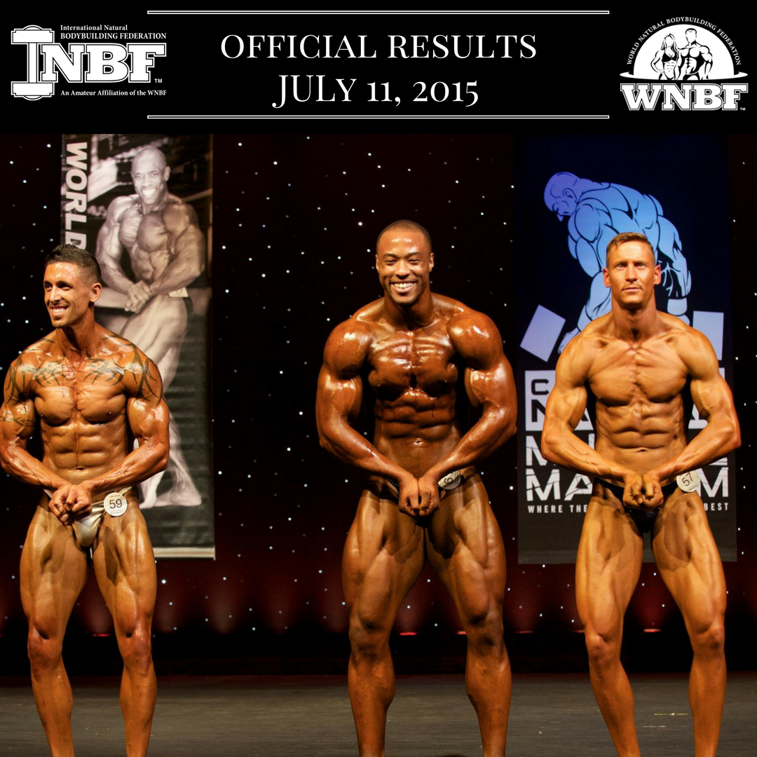 Results 2015 INBF California Natural Muscle Mayhem WNBF Pro Qualifier Vincenzo Coriloni Nsima Inyang Jason Newman Sacramento California