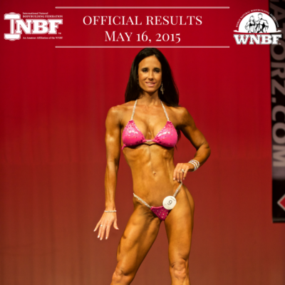 Results 2015 INBF LA Natural Muscle Mayhem WNBF Pro Qualifier Jennifer Whelan WNBF Pro Bikini Rancho Cucamonga California
