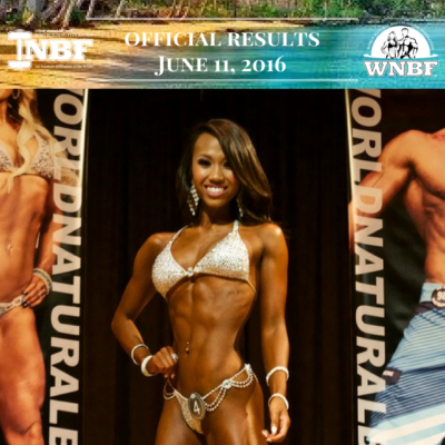 Results 2016 INBF Polynesian Natural Muscle Mayhem WNBF Pro Qualifier Anika Mejia Bikini Bikini Champion Hi Fit Expo Oahu Hawaii