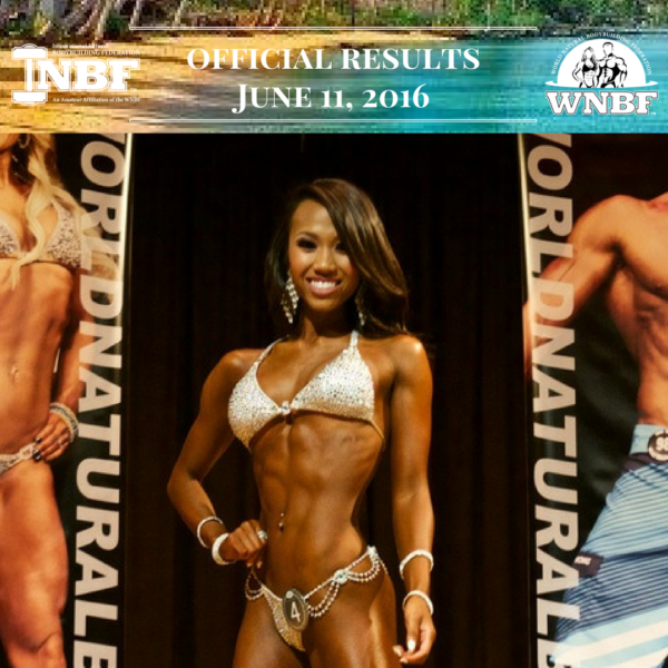 Results 2016 INBF Polynesian Natural Muscle Mayhem WNBF Pro Qualifier Anika Mejia Bikini Bikini Champion Hi Fit Expo Oahu Hawaii