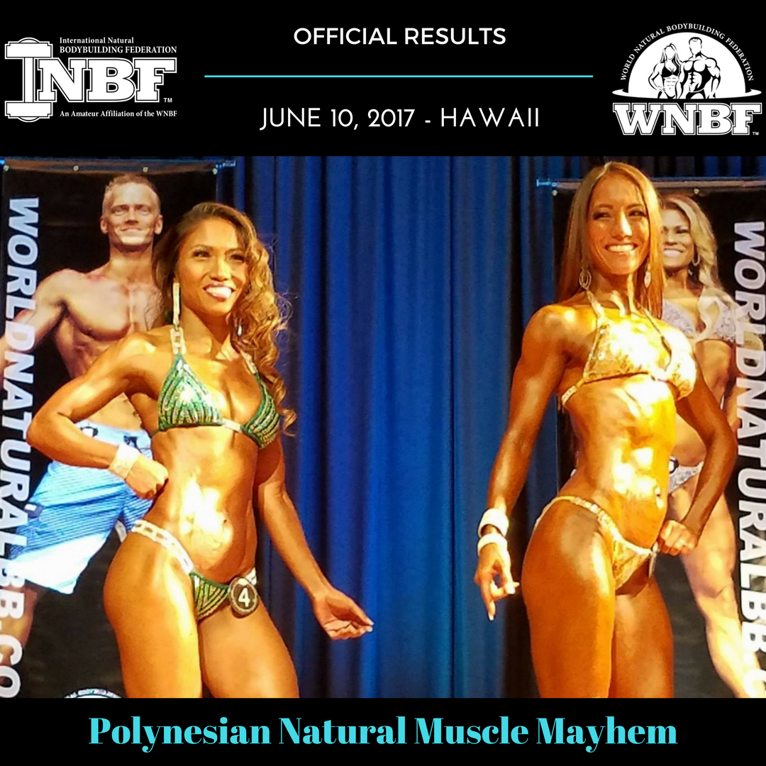 2017 INBF Polynesian Natural Muscle Mayhem Official Results Oahu Hawaii Hi Fit Expo