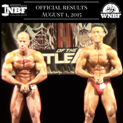 Results 2015 INBF Battle of the Bay WNBF Pro Qualifier Tyler Yasuda Ryan White San Ramon California