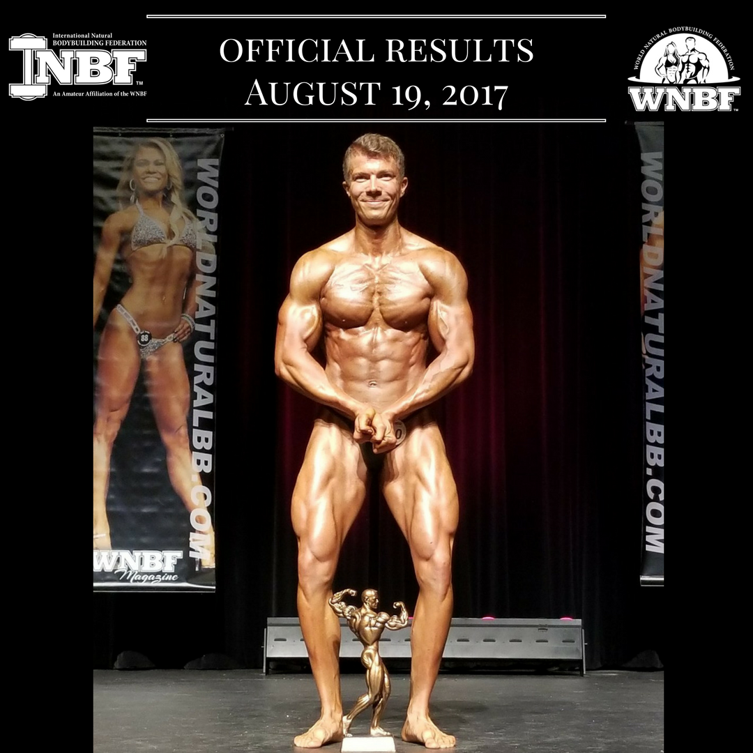 Results 2017 INBF L.A. Natural Muscle Mayhem Natural Bikini, Bodybuilding, Figure, Fit Body, and Men's Physique Michael Hiller Overall Bodybuilding Champion