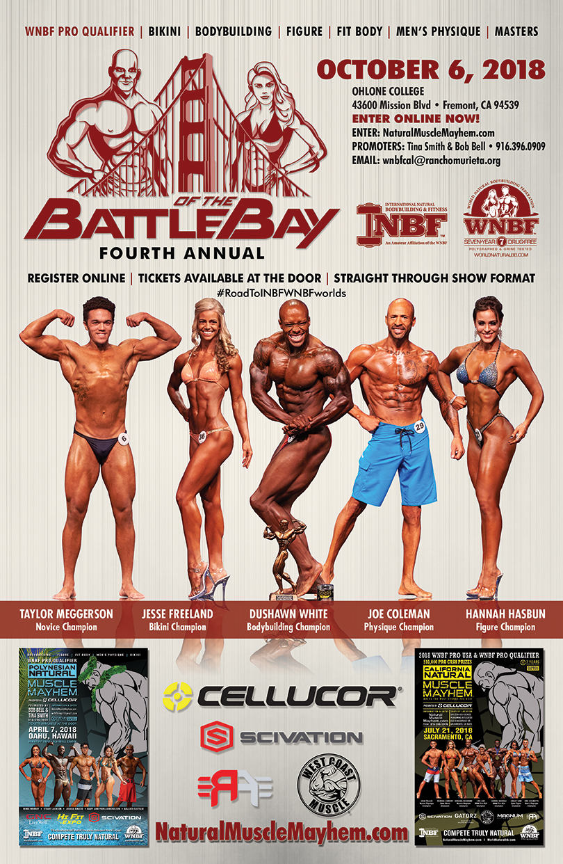 2018 INBF Battle of the Bay WNBF Pro Qualifier Ohlone College Fremont California