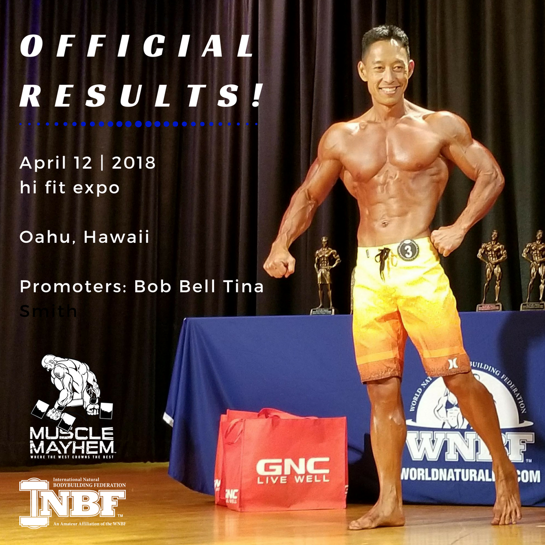 2018 INBF Polynesian Natural Muscle Mayhem Hi Fit Expo Brandon Vallejos Mens Open Physique Champion