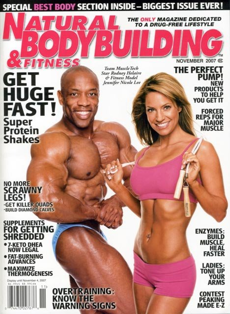 Rodney Helaire INBF WNBF Pro Jennifer Nicole Lee Natural Bodybuilding and Fitness Magazine
