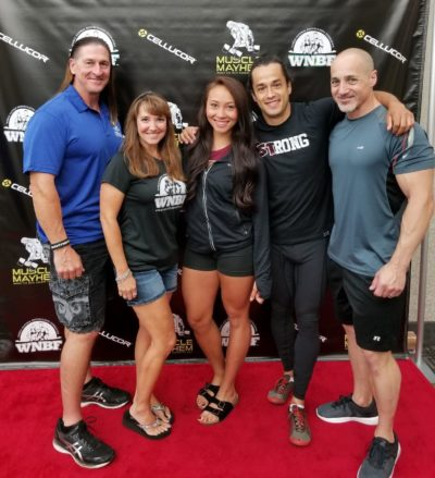 Bob Bell Tina Smith Leanna Carr Alberto Nunez Jeff Alberts red carpet photo at the 2017 WNBF Pro USA and INBF Natural Muscle Mayhem Sacramento California #cnmm20
