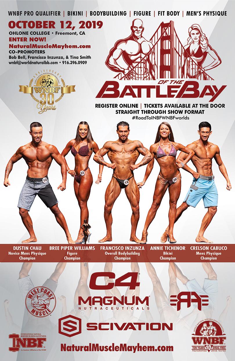 Wnbf 2019 Schedule INBF Battle of the Bay WNBF Pro Qualifier – Natural Muscle Mayhem