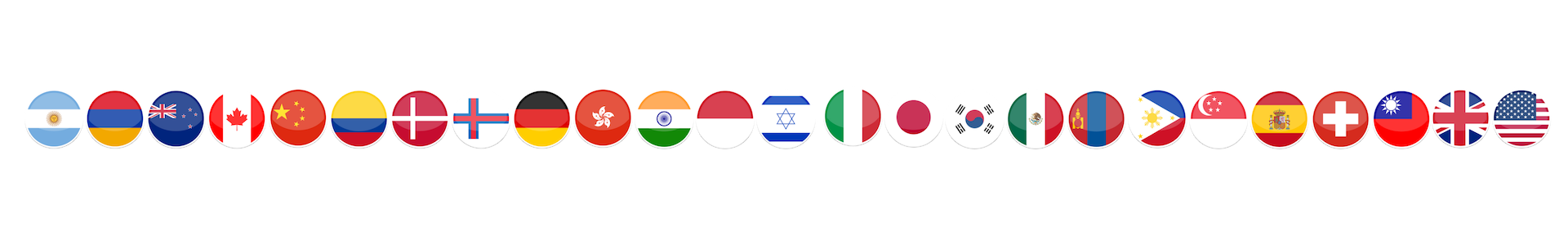 2019 WNBF World Affiliate Flags