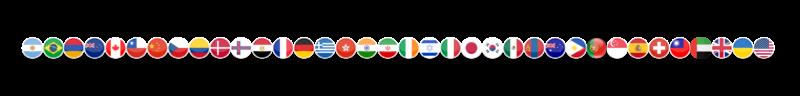 2021 WNBF World Affiliate Flags